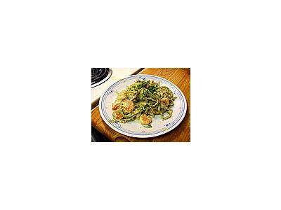 Photo Small Seafood Carbonara Food
