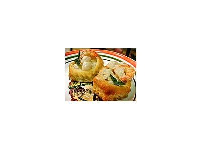 Photo Small Seafood In Pastry Food
