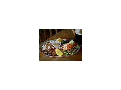 Photo Small Seafood Plate Food