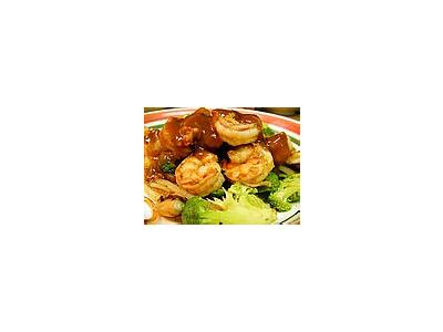 Photo Small Shrimp Teriyaki Food