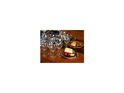 Photo Small Wine Glasses And Cheese Interior