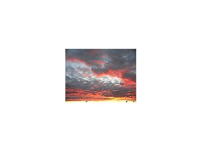 Photo Small Red Clouds Landscape
