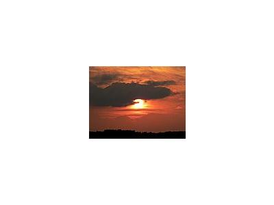 Photo Small Red Sunset Landscape