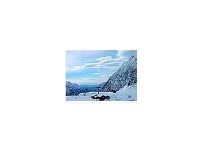 Photo Small Alp Cabin Landscape