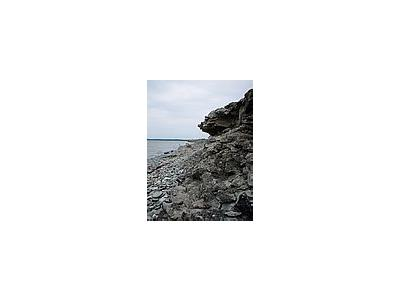 Photo Small Rocky Shore Landscape
