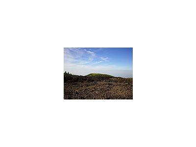 Photo Small Volcanic Landscape Landscape