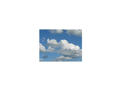Photo Small Clouds In Blue Sky Landscape