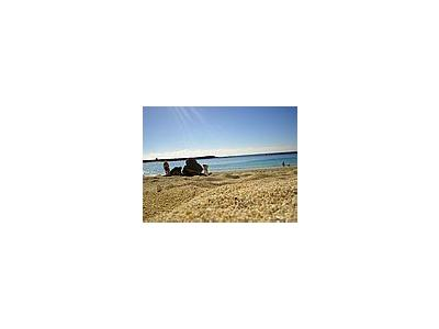 Photo Small Beach Sand Ocean