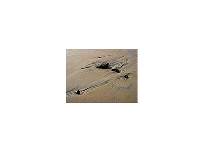 Photo Small Beach Sand Stones Ocean