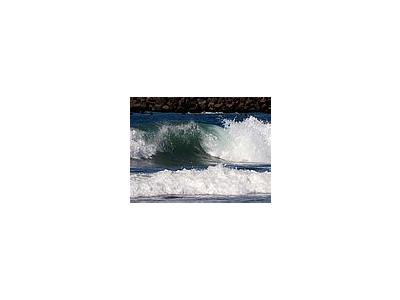 Photo Small Wave Details Ocean