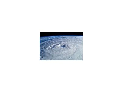 Photo Small Hurricane Isabel Space