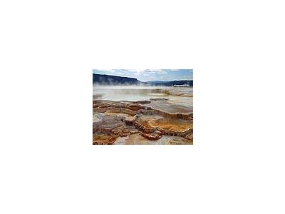 Photo Small Mammoth Hot Springs Travel