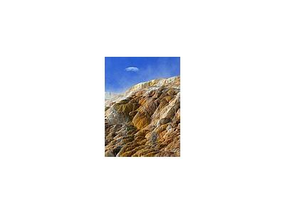 Photo Small Mammoth Hot Springs 3 Travel