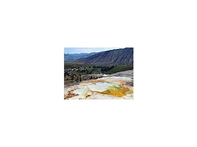 Photo Small Mammoth Hot Springs 6 Travel