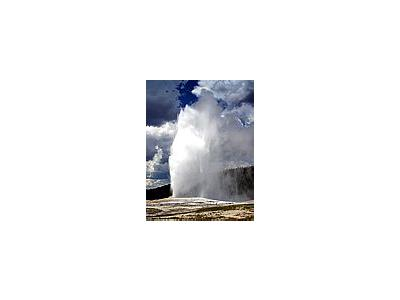Photo Small Old Faithful Geyser Travel