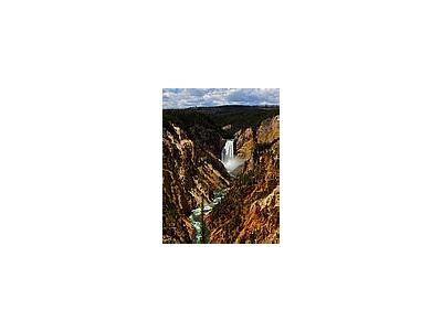 Photo Small Yellowstone Park Lower Falls Travel