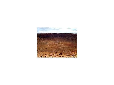Photo Small Barringer Meteorite Crater Travel