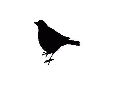 Uccello Profilo 01 Archi 01 Animal