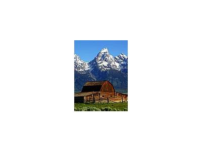 Photo Small Mormon Row Barns Travel