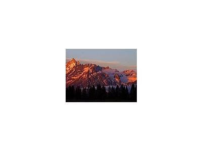 Photo Small Tetons Sunrise Travel