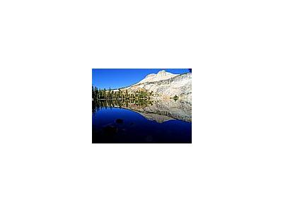 Photo Small May Lake And Mount Hoffmann Travel