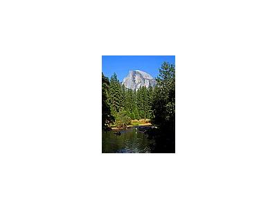 Photo Small Swimming Under Half Dome Travel