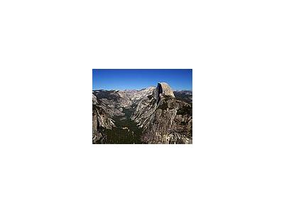 Photo Small Yosemite Valley And Half Dome Travel