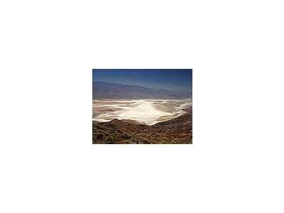 Photo Small Salt Flats From Dantes View Travel