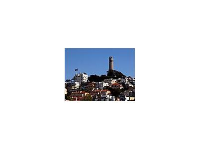 Photo Small Coit Tower On Telegraph Hill Travel