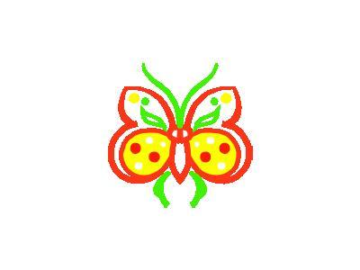 Farfalla Stilizzata Arch 01 Animal