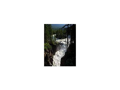 Photo Small Sunwapta Falls Jasper Travel