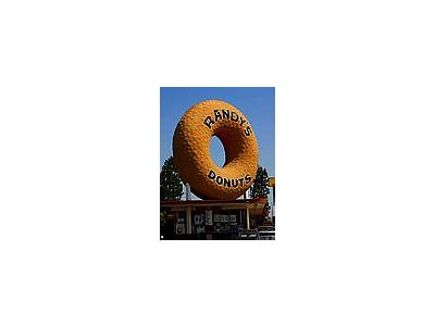 Photo Small Randys Donuts Sign Travel