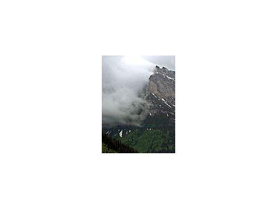 Photo Small Clouds Over Glacier Travel