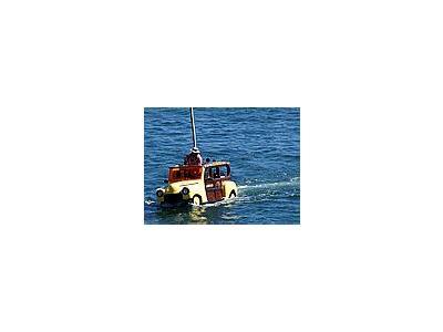 Photo Small Car Boat Vehicle