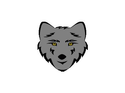 Simple Stylized Wolf He 01 Animal