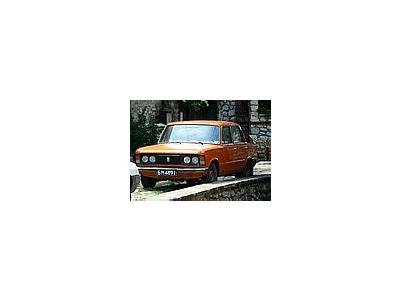 Photo Small Orange Fiat Vehicle