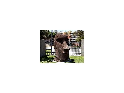 Photo Small Moai Statue Other