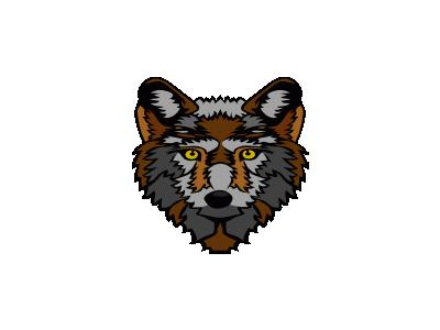 Stylized Wolf Head Geral 01 Animal