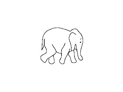 Elephant Outline Matthe R Animal