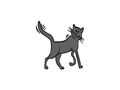 Cartoon Cat Gerald G. 01 Animal