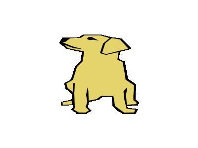 Dog 01 Drawn With Strai 01 Animal