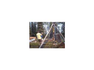 Building An Alaska Cabin Foundation 00422 Photo Small Wildlife