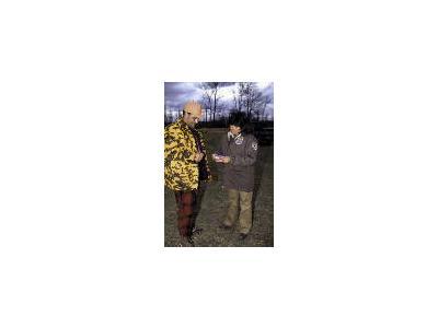 FWS Law Enforcement Checks Hunting License 00534 Photo Small Wildlife