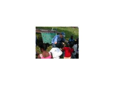 Volunteer Show Children About Fishing Equipment 00626 Photo Small Wildlife