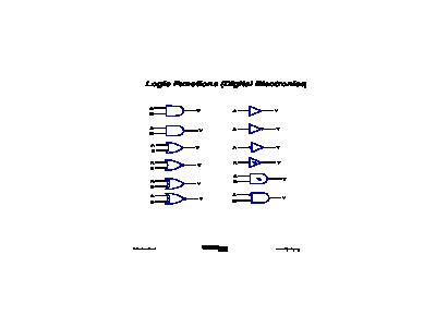 Logic Functions Digital 01 Computer