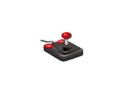 Joystick Black Red Petri 01 Computer
