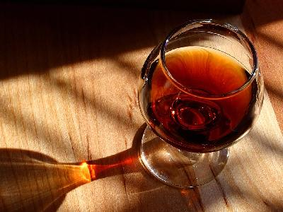 Photo Big Glass Of Port Drink