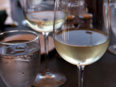Photo Big White Wine Glass Drink