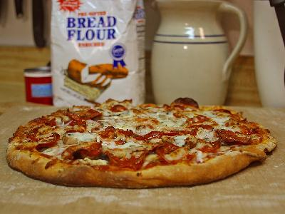 Photo Big Pizza Pepperoni 2 Food