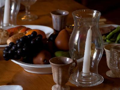 Photo Big Glasses And Food Interior